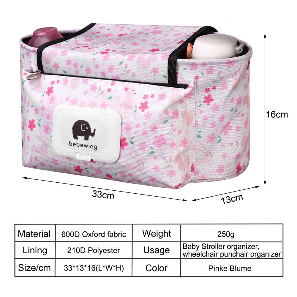 Stroller Organizer Extra-Large Storage Space Hanging Storage Bag Fits All Strollers Green Dog Baby Stroller Pram Organizer Bag Premium Quality Diaper Bag