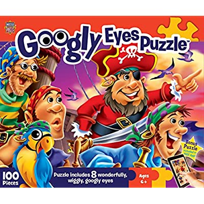 MasterPieces Googly Eyes Pirates Jigsaw Puzzle, 100-Piece: Toys & Games