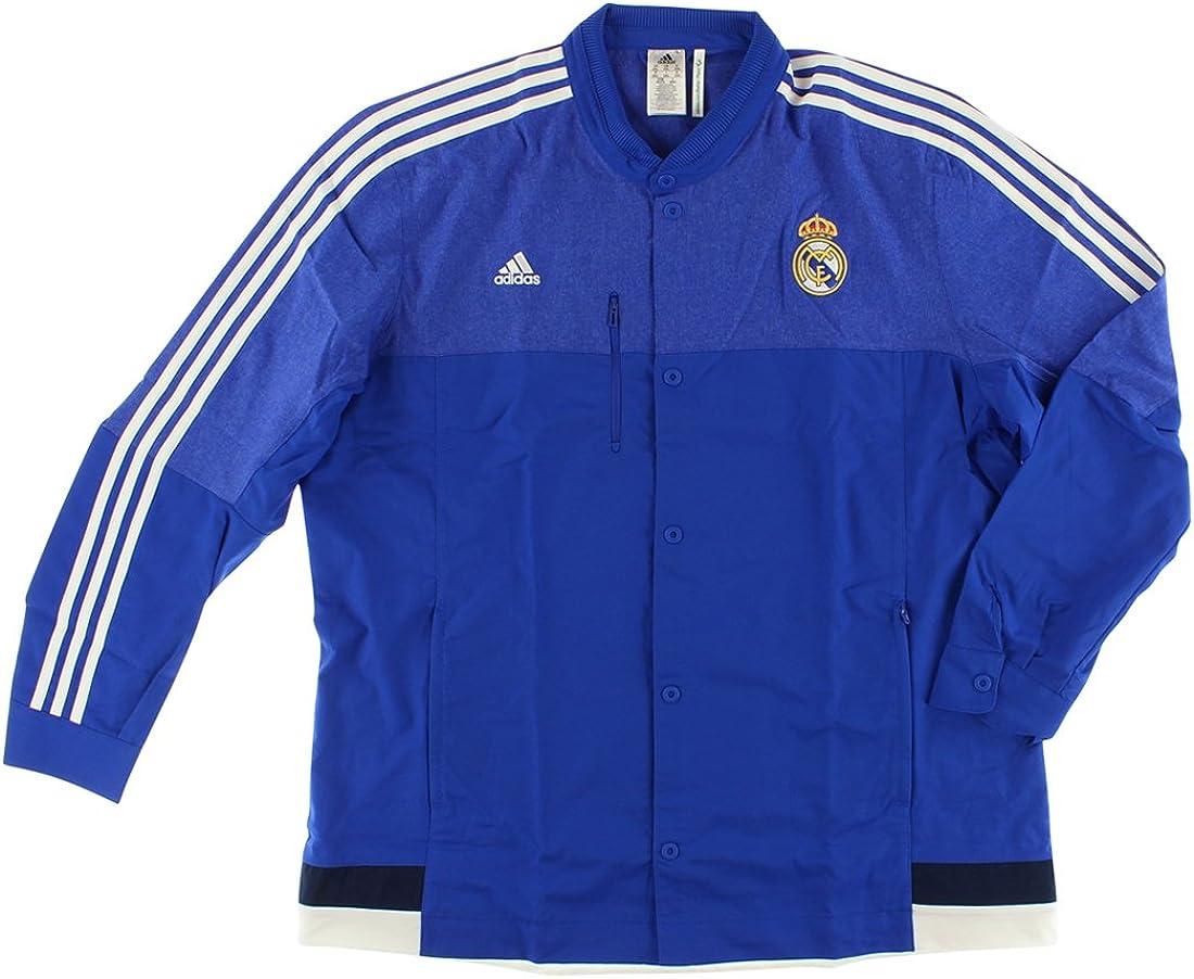 adidas Real Madrid CF Anthem Veste pour Homme (BoblueBlanc