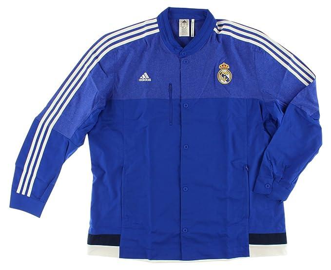 adidas Real Madrid CF Himno Chaqueta (boblue/Blanco): Amazon ...