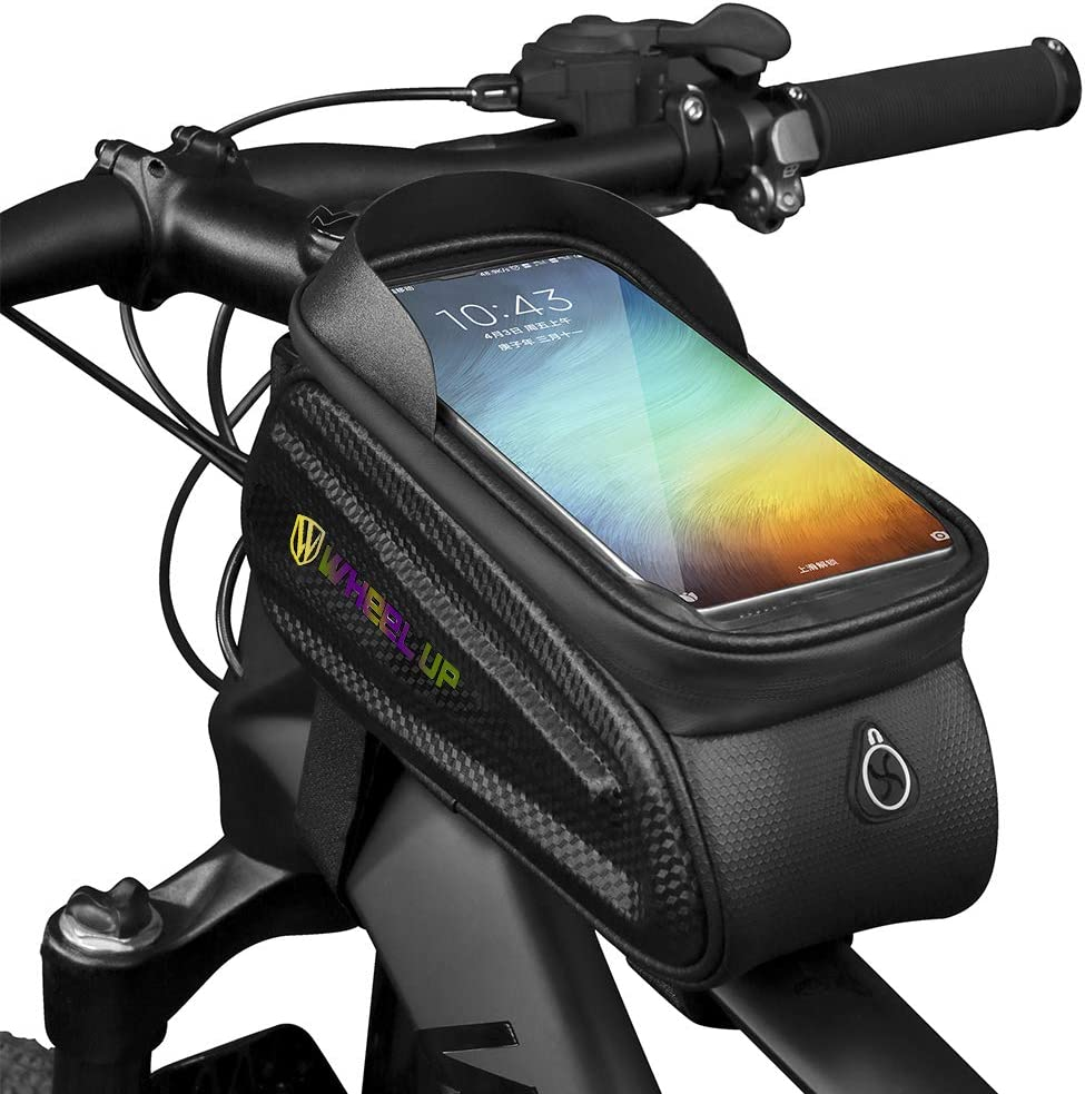 Amazon Com Waterfly Bike Frame Bag Waterproof Bike Front Tube Handlebar Bag Bicycle Bag With Touch Screen Phone Case For Iphone 11 Iphone X 8 7 Plus 7 6s 6 Plus 5s Black 1 Sports Outdoors