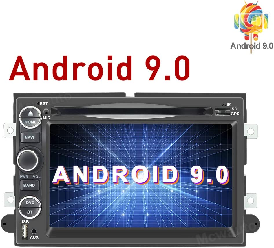 MCWAUTO Car Radio DVD Navigation Player Android 9.0 Ford F150 F250/350/Edge/Fusion/Mustang in Dash 2 Din Car GPS Navigation Radio Receiver Support SWC/DVR/OBD2