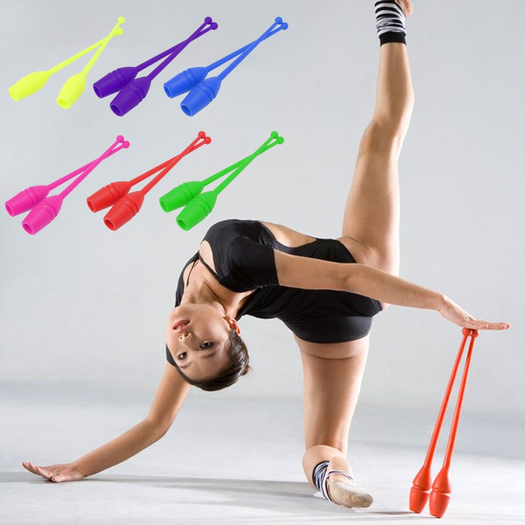 Rhythmic Gymnastics Equipment New York: BetterM 1 Pair Rhythmic Gymnastics Stick Dancing Sports