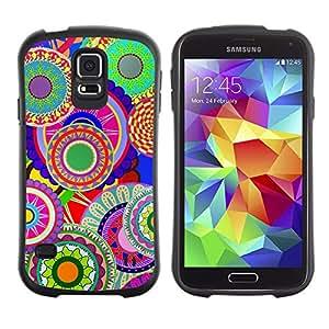 Suave TPU Caso Carcasa de Caucho Funda para Samsung Galaxy S5 SM-G900 / Colorful Pattern Art Wallpaper Psychedelic / STRONG