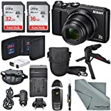 Nikon Coolpix A900 Digital Camera (Black) + Total of 48 GB SDHC + Table Tripod + AC/DC Charger + Spare Battery + Case + Wrist Strap along with Deluxe Accessory Bundle
