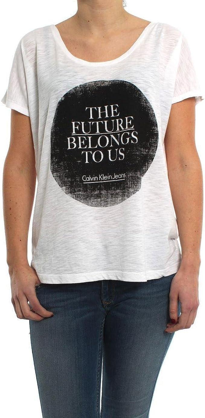 Camiseta Calvin Klein Tammy B Blanca L Blanco: Amazon.es: Ropa y accesorios