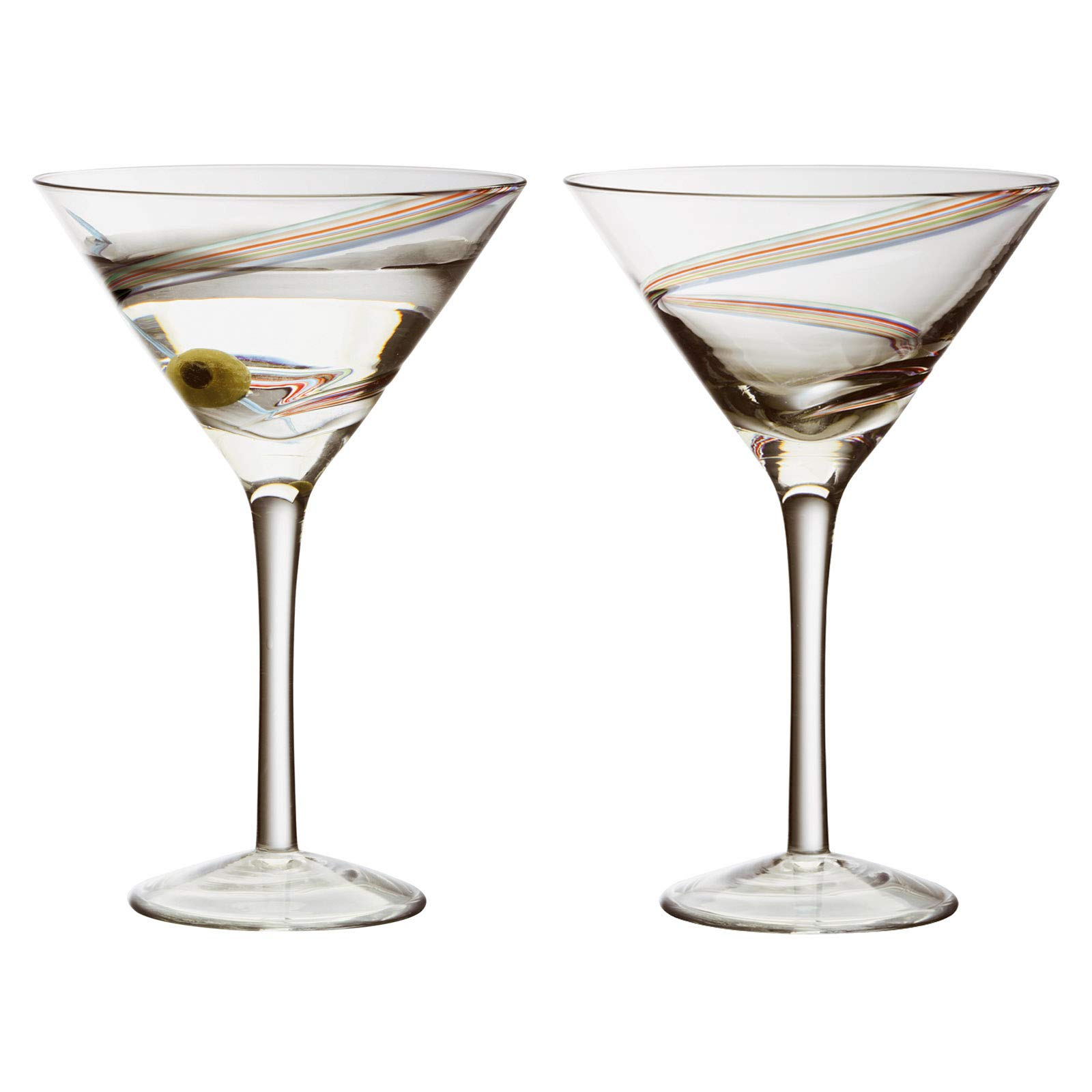 175 ml 2 Pieces Crystal Glass Set of 2 Martini Glasses Cocktail Glasses Elite Collection Restaurants and Parties Perfect for Home