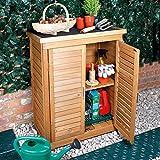 Wooden Garden Storage Space Saving Tool Storage Cabinet Shed
