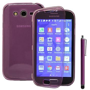 VCOMP Carcasa de silicona, con tapa y puntero, para Samsung ...