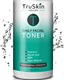 DAILY Facial SUPER Toner for All Skin Types, With Glycolic Acid, Vitamin C, Witch Hazel and Organic Anti Aging…