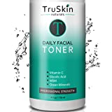 DAILY Facial SUPER Toner for All Skin Types, With Glycolic Acid, Vitamin C, Witch Hazel and Organic Anti Aging Ingredients fo