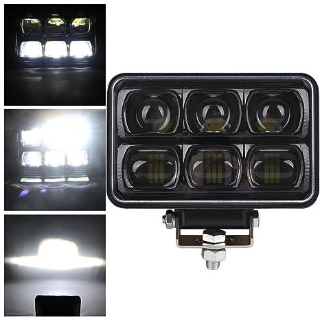 Amazon.com: 4 x 6 LED rectangular faro proyector haz hi/lo ...