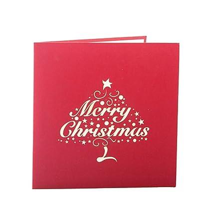 brightup tarjetas de Navidad 3d Pop-up Tarjeta de ...