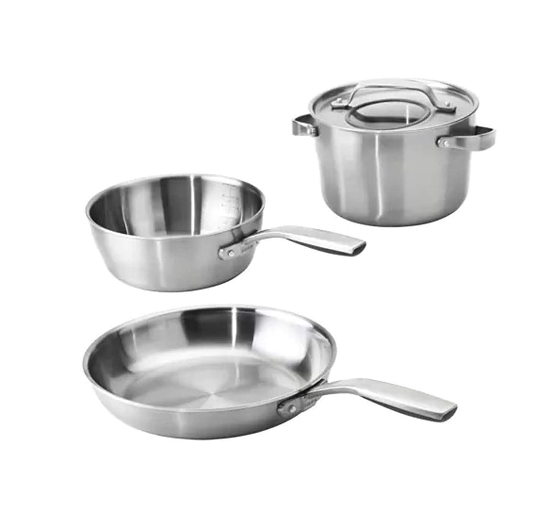 Juego de 4 utensilios de cocina hechos de acero inoxidable ...