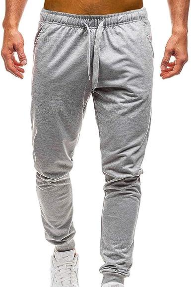 Longra Pantalón para Hombre, Hombre Chandal Bottoms Ropa De ...