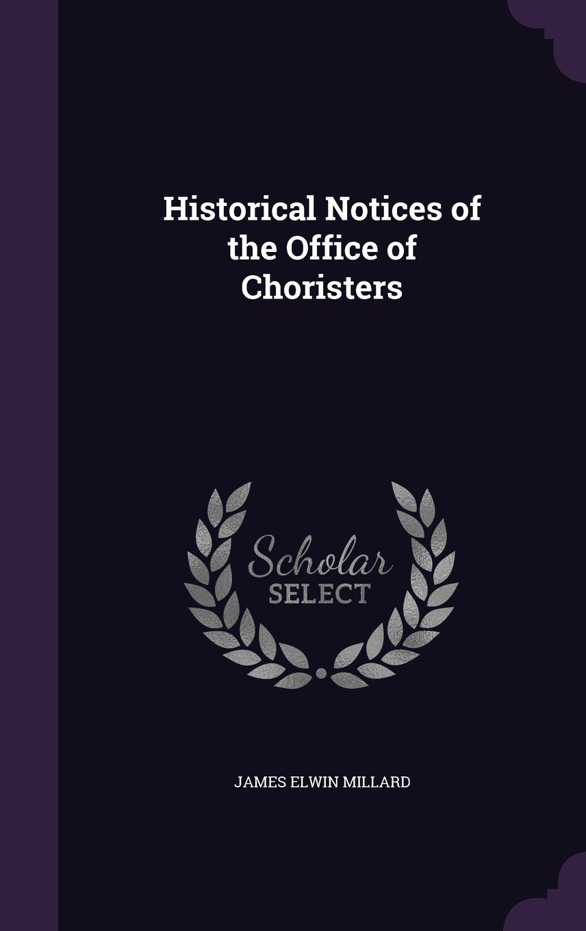 Download Historical Notices of the Office of Choristers pdf