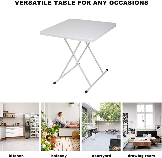 """White 30"""" x 30"""" Square Folding Card Table Dining Card Table with X ..."""