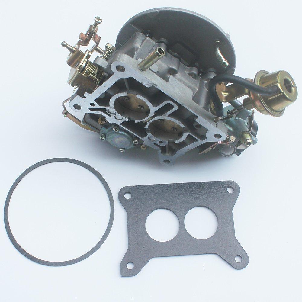 KIPA Carburetor For Ford F150 F250 F350 Mustang Comet 289Cu 302Cu 351Cu Engine 351 302 289 Jeep Wagoneer 360Cu Engine 2100 A800 2-Barrel Carb Carburetor With Mounting Gasket