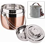 Insulated Lunch Box with Lunch Bag Stainless Steel Food Carrier/Food Container/Taffin Containers Portion Control Containers/Thermos/Indian Tiffin for Hot Food - Hold Warm for 3 Hours,1.5L