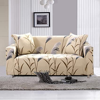Lamberia Printed Sofa Cover Stretch Couch Cover Sofa Slipcovers For Couches  And Loveseats With One Free