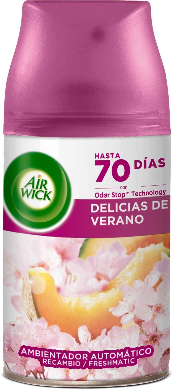 Air Wick Recambio de Ambientador Spray Automático, Delicias de Verano, 250ml