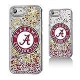 Keyscaper NCAA Alabama Crimson Tide UA Confetti Glitter Case for iPhone 8/7/6, Clear