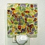 Glassworks Northwest - Mosaic Night Light Earth Tones - Fused Glass Art