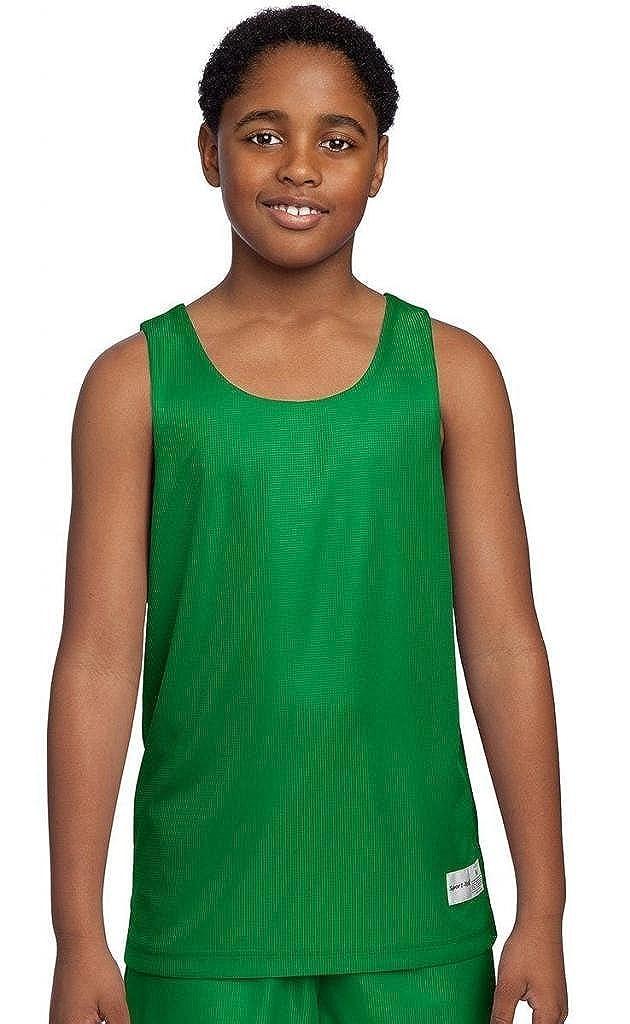 Sport-Tek Youth PosiCharge Mesh Reversible Tank Kelly Green YT550