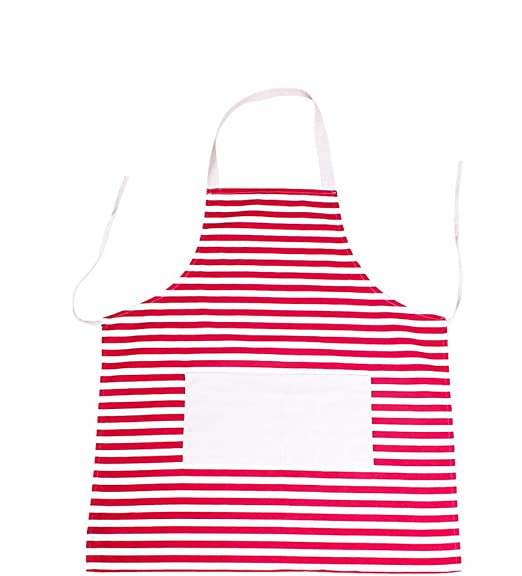 1950s Men's Costumes: Greaser, Elvis, Rockabilly, Prom Bilipala Horizontal Striped Canvas Aprons with Pockets Red and White Stripes $8.95 AT vintagedancer.com