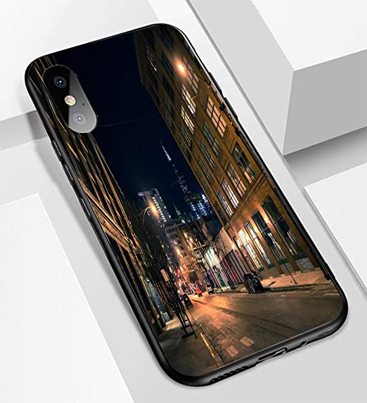 Amazon Com Iphone X Xs Ultra Thin Glass Back Phone Case