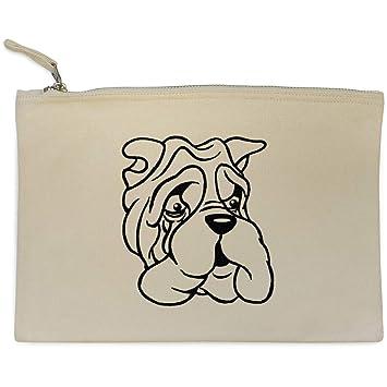 Azeeda Bulldog Gruñón Bolso de Embrague / Accesorios Case (CL00004870)