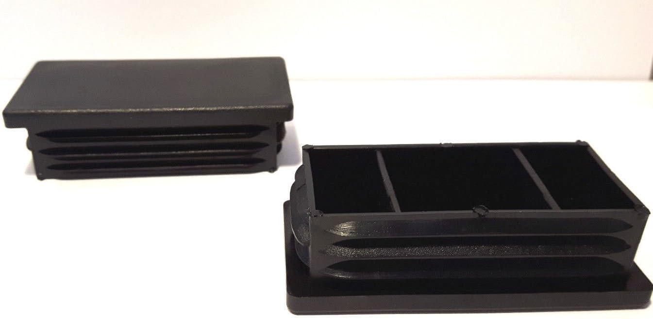 f/ür Rechteckige Rohre Aussenma/ß 50x25mm Wandst/ärke 1,5-2mm schwarz OL 20 Stopfen