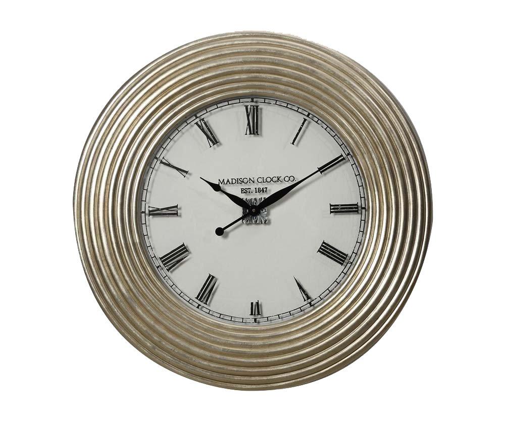 Acme Furniture 97230 Shannon Wall Clock, Silver PU