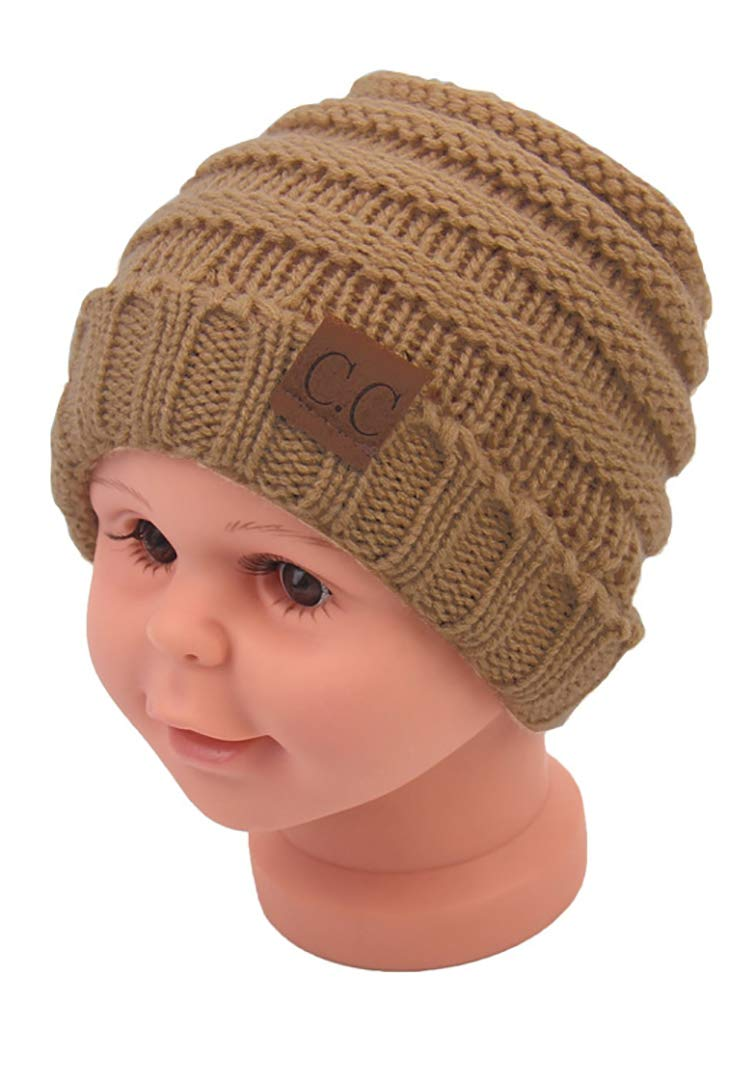 Baby Kids Knit Winter Warm Hats Boy Girl Infant Toddler Children's Beanie Caps