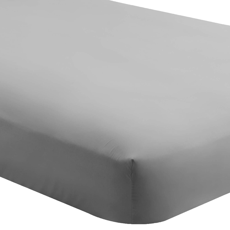 Deep Pocket Bare Home Fitted Bottom Sheet California King Premium 1800 Ultra-Soft Wrinkle Resistant Microfiber Cal King, Grey Hypoallergenic