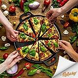 "NutriChef 14"" Cast Iron Baking Pan Steel Pizza"
