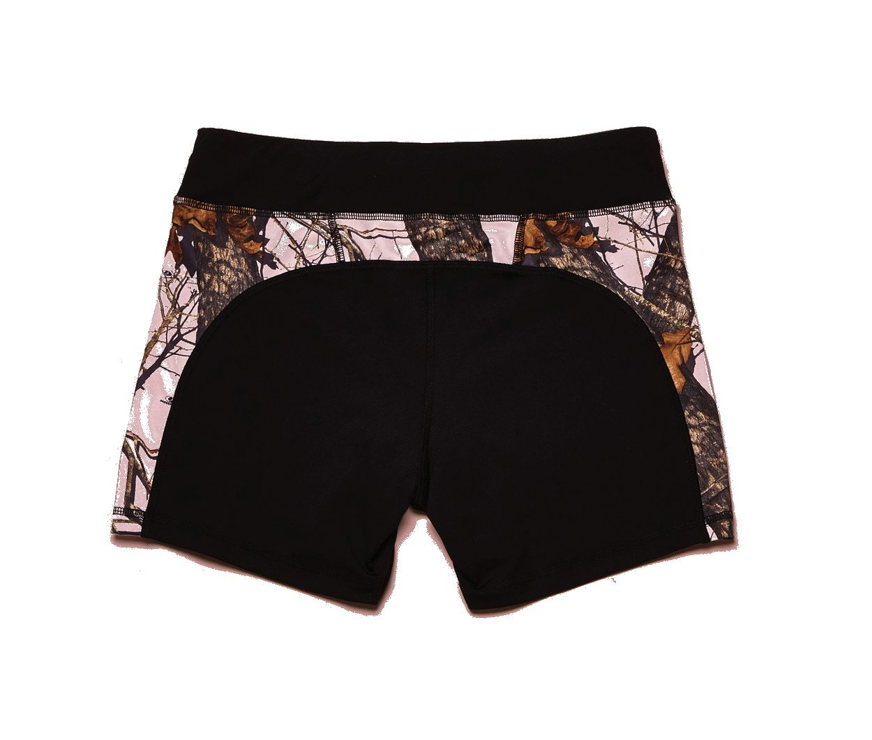 Wilderness Dreams Active Wear Shorts Black with Mossy Oak Pink Size Medium by Wilderness Dreams