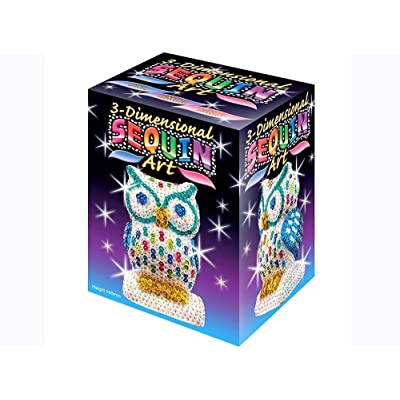 Sequin Art 3D, Owl, Sparkling Arts and Crafts 3D Art Kit; Creative Crafts for Adults and Kids: Toys & Games