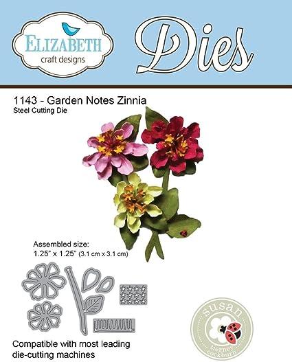 Elizabeth Craft Designs Dies Garden Notes Zinnia Dies