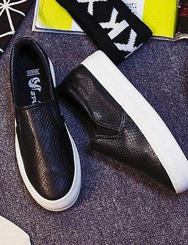 Plataforma cn40 5 Blanco Cerrada 5 Zapatos ZQ eu39 Exterior uk6 5 cn40 de black uk6 gyht us8 white Comfort Punta mujer 5 us7 Negro Semicuero white Mocasines uk5 eu38 5 cn38 5 Casual us8 eu39 OInxRn