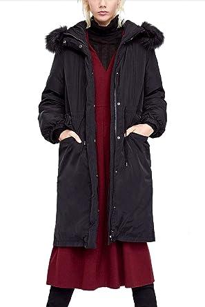 67045c023d65a Women s Plus Size Winter Warm Long Thick Down Hooded Parka Maxi Coat ...