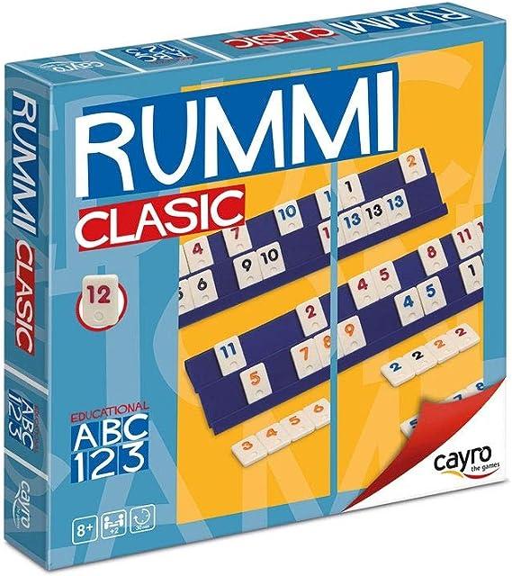 Cayro - Rummi - Juego Tradicional - Juego de Mesa - Desarrollo de Habilidades cognitivas y lógico matemáticas - Juego de Mesa (711): Amazon.es: Oficina y papelería