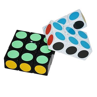 EasyGame LanLan Cubo Super Floppy, Blanco+Negro, 1 x 3 x 3 cubos de velocidad: Juguetes y juegos
