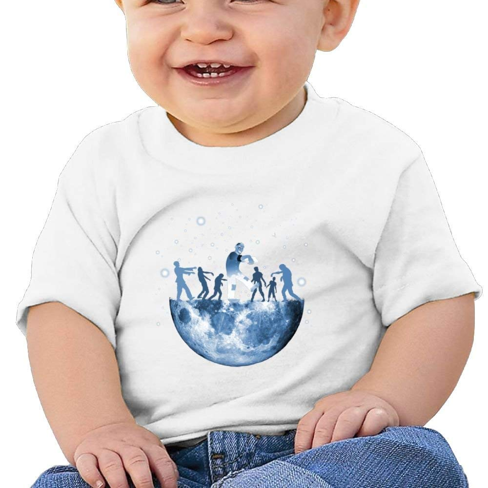 Short Sleeve T Shirts Moon Landing Zombie Birthday Day Baby Boy Toddlers