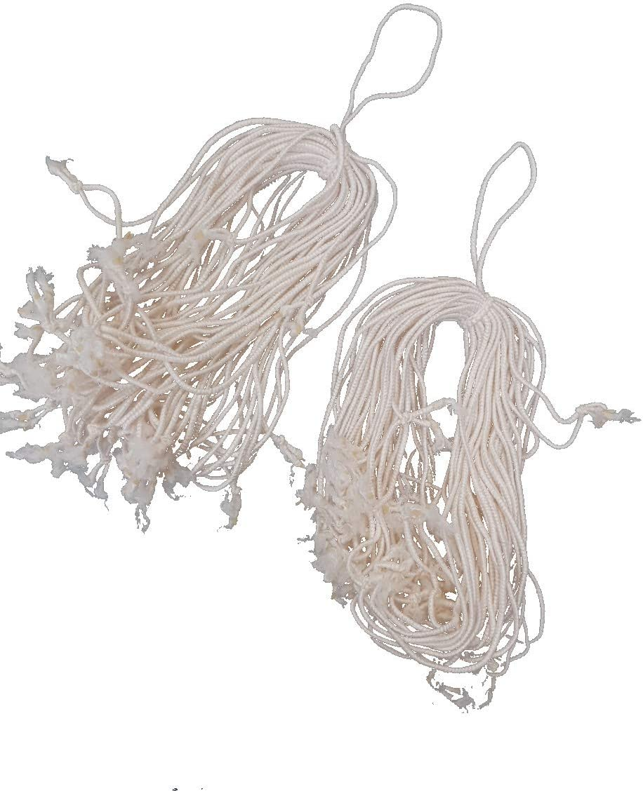 Elastic Ties/ Loops Poultry Chicken/ Turkey Strings 123mm long Stretchy WHITE, 50 pcs