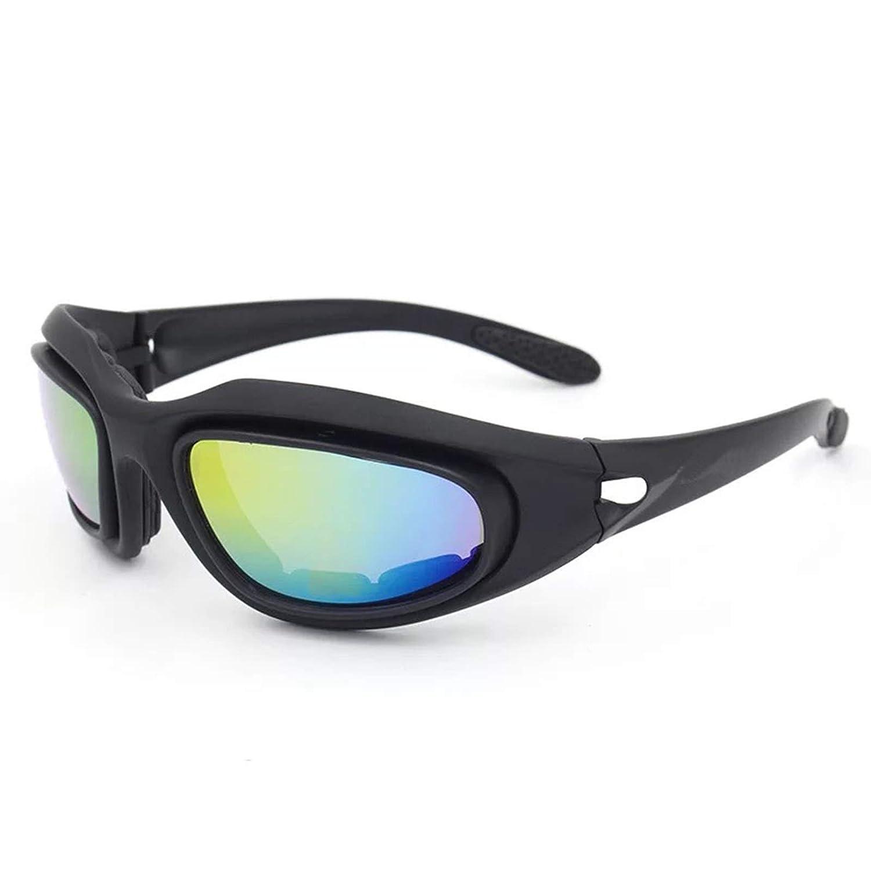 SonMo Motorrad Brille Fahrbrille Sportbrille Arbeitsbrille Schneebrille Snowboardbrille Radbrille Skibrille TPU+PC Schwarz Blendschutz mit UV Schutz Skibrille Herren Damen Winddicht