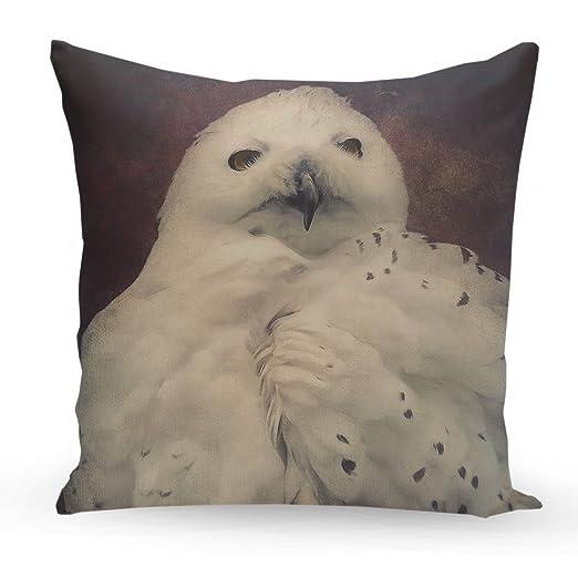 artboxONE cojín Hedwig diseño cojín, poliéster, Blanco, 40 x ...