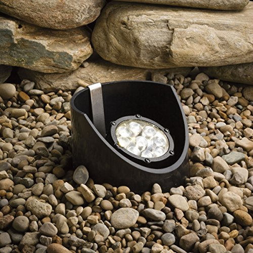Kichler Lighting 15758BKT LED Well Light 9-Light Low Voltage 60 Degree Wide Spread Light, Textured Black with Clear Tempered Glass Lens Review