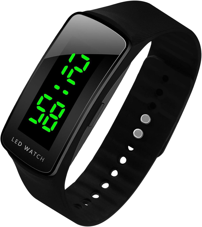 hiwatch LED hombres reloj Fashion Sport Digital resistente al agua reloj para hombres niños niñas reloj de pulsera, mejor regalo de Navidad.