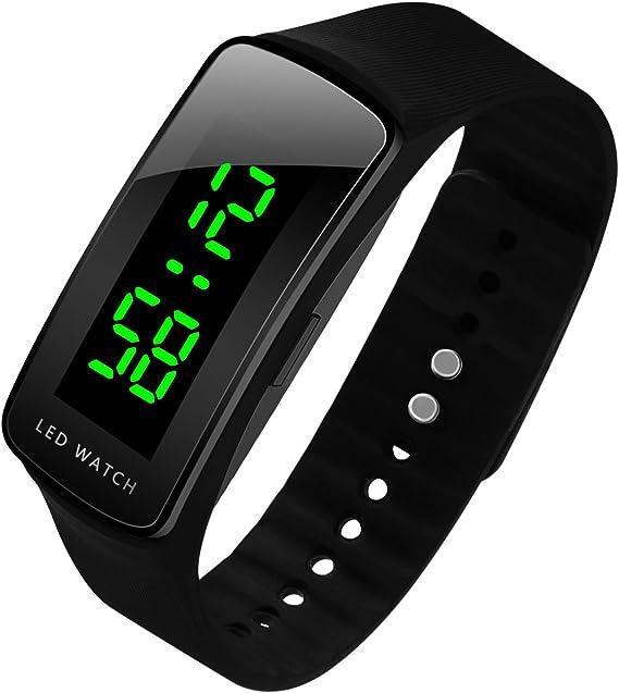 Hiwatch LED Reloj de Moda Deportivo Impermeable Reloj Digital para ...